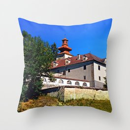 Waldenfels castle, south side Throw Pillow