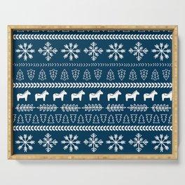 Scandinavian Christmas in Blue Serving Tray
