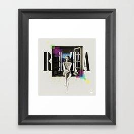 Divas: Rita Hayworth. Framed Art Print