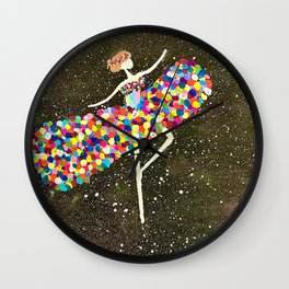 Dancing in starlight Wall Clock
