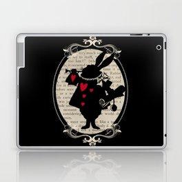 Alice In Wonderland White Rabbit Vintage Book Laptop & iPad Skin