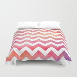 Watercolor Chevron. Duvet Cover