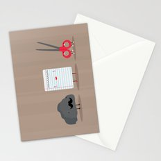 Rock paper scissors Stationery Cards