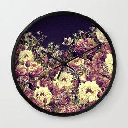 Vintage Garden 6 (Roses & Lavenders) Wall Clock
