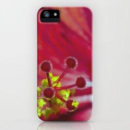 Hibiscus Stamen iPhone Case