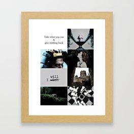 Slytherin Aesthetic Framed Art Print