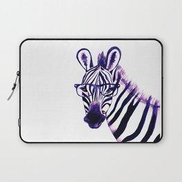 Zebra with glasses, purple Laptop Sleeve