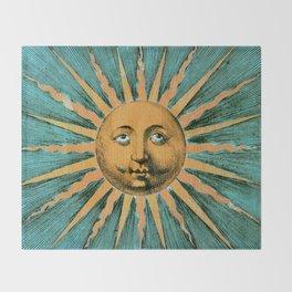 Vintage Sun Print Throw Blanket