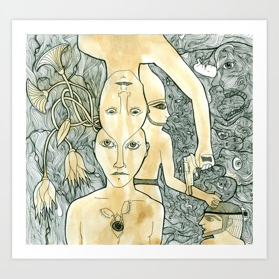 divide Art Print