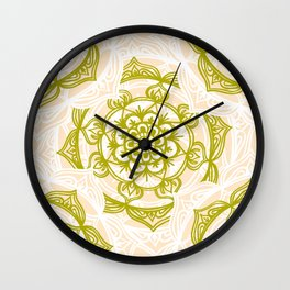 Summer Apple Mandala Wall Clock
