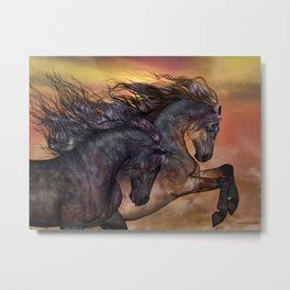 HORSES - On sugar mountain Metal Print