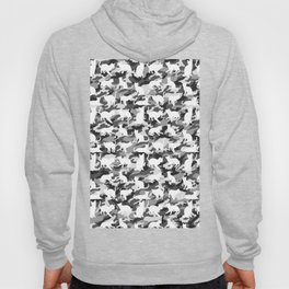 Black and White Catmouflage Camouflage Hoody