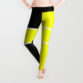 Team Color 6...yellow,black Leggings