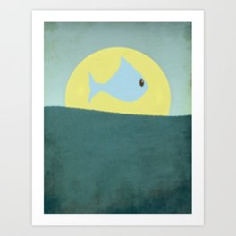 Something fishy! Art Print