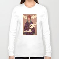good morning Long Sleeve T-shirts featuring Good Morning by James M. Fenner