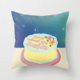 Happy Birthday Patrick Star! Throw Pillow