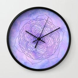 Waterolor Mandala FLower Wall Clock
