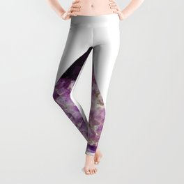 amethyst triangle Leggings