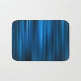 Abstract background motion soft blue curtain Bath Mat
