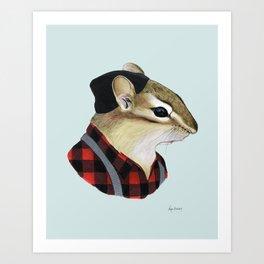 Chipmunk art print Art Print