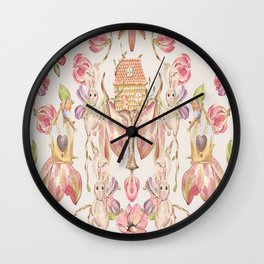 Bunny Bird Love - Bagaceous Wall Clock