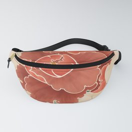 Red Peony Fanny Pack