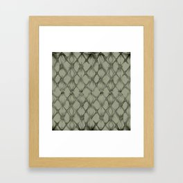 Braided Diamond Simply Green Tea Framed Art Print