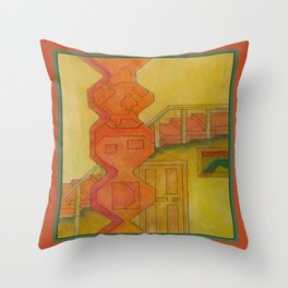 For the Squares: A Party at Auntie Mame's Throw Pillow