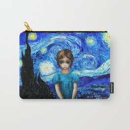 Big Eyes With Starry Night Vincent Van Gogh Carry-All Pouch