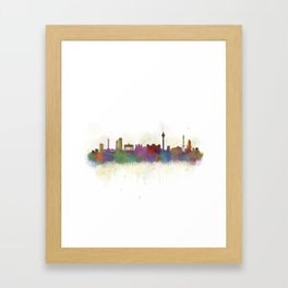 Berlin City Skyline HQ5 Framed Art Print