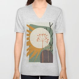 Abstract Plant 03 Unisex V-Neck