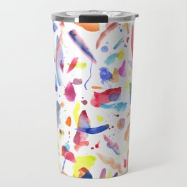 Abstract Painterly Brushstrokes Travel Mug
