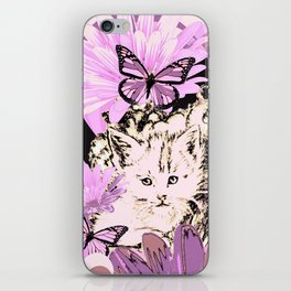 Frieda's Baby Cats in Pink iPhone Skin