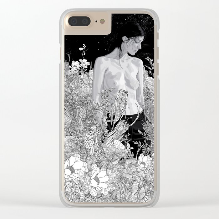 Night Lounge Clear iPhone Case