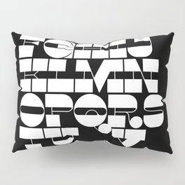 Alphabet Black & White Pillow Sham