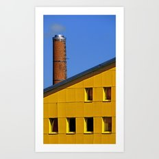 Chimney stopped smoking | architectural photography Art Print