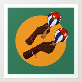 Cuban Maracas Art Print