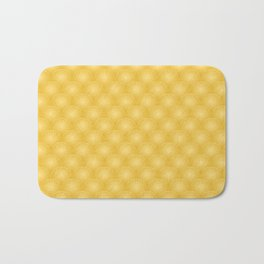 Bright Gold Art Deco Curved Fan Pattern Bath Mat