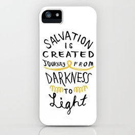Salvation is Created iPhone Case