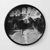 patriots Wall Clocks featuring Granary Burying Ground by David Hohmann by David Hohmann