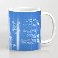 eiffel Mugs featuring  Eiffel Tower by mewdew