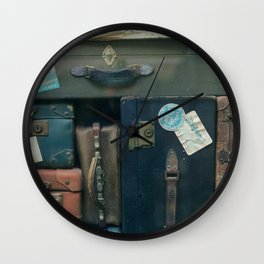 Stack of luggages Wall Clock