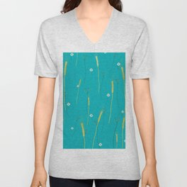 wheat field Unisex V-Neck