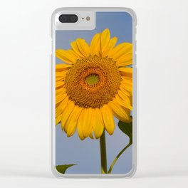 Sunny Sunflower Clear iPhone Case