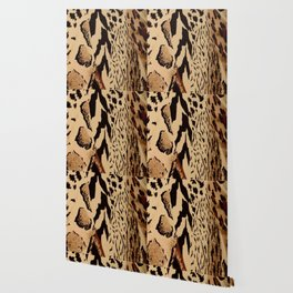 wildlife brown black tan cheetah leopard safari animal print Wallpaper