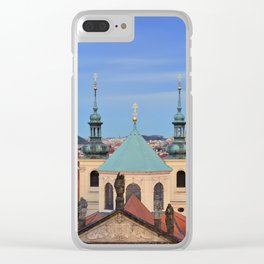 View of colorful old town in Prague Clear iPhone Case