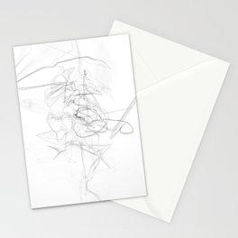 """Whatever, Oh Well"" Black and White Abstract Design Stationery Cards"