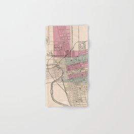 Vintage Map of Columbus Ohio (1868) Hand & Bath Towel