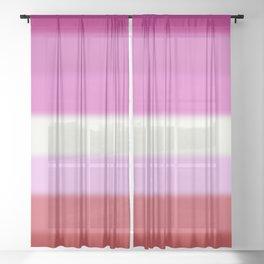 Lesbian Pride Flag Sheer Curtain