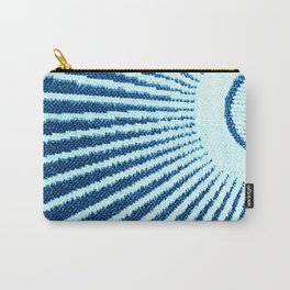 Blue Half Circle Graphic Art Design Contemporary Pattern Carry-All Pouch